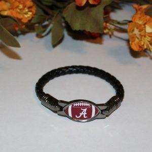 Awesome Alabama Crimson Tide Leather Bracelet